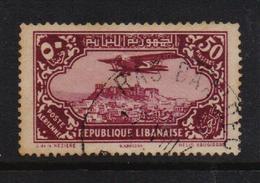 French Lebanon 1930, Airplane 50 Piastres, Minr 194, Vfu. Cv 12 Euro But Stamp Is Damaged - Great Lebanon (1924-1945)