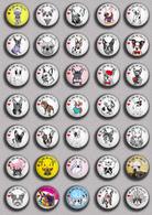 LOVE DOG France Bulldog BADGE BUTTON PIN SET 2 (1inch/25mm Diameter) 35 DIFF - Tiere