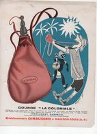 Mauléon-Soule (64 Pyrénées Atlantiques) GIRAUDIER Gourde La Coloniale  (PPP9791) - Advertising
