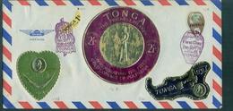 TONGA Jolie Lettre Avec N° 138,424,428,pa 4 Et Pa 10 Oblitéré 29.sept 1978 Peu Courant. - Tonga (1970-...)