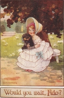"""""""Agnes Richardson.  Would You Sait, Fido?"""" Tuck Oilette Our Kiddies Ser. PC # 8787 - Tuck, Raphael"""