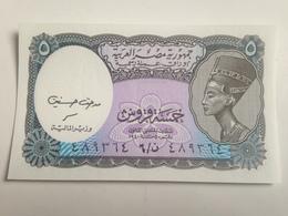 Billete Egipto. 5 Piastras. Sin Circular - Egipto