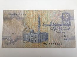 Billete Egipto. 25 Piastras - Egipto