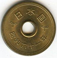 Japon Japan 5 Yen An 61 ( 1986 ) KM 72a - Japon