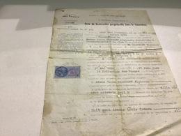 Fresse Sur Moselle  Actes De Concessions Perpétuel Dans Le Cimetière  Arrondissement DÉpinal - Décrets & Lois