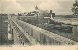 CPA 47 Lot Et Garonne Agen Le Pont Canal - Passage Péniche Marie Louise - Neuve - LL. 55 - Agen