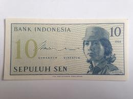 Billete Indonesia. 10 Sen. 1964. Sin Circular - Indonesia