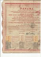 Action Du Canal De Panama - Fiscaux