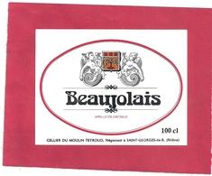 --BEAUJOLAIS--100cl--CELLIER DU MOULIN TEYROUD NEGOCIANTS A ST-GEORGES-DE-RENEINS-- - Beaujolais