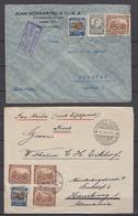 Kolumbien 2 Luftpostbriefe 1937 Von Barranquilla Bzw Armero Mit MiF U.a. 333 Nach Deutschland - Kolumbien