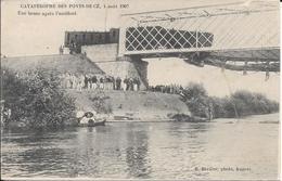 Cpa  49 Les Ponts De Cé , Catastrophe Ferroviaire Du  4 Août 1907 , Non écrite - Les Ponts De Ce