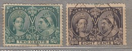 CANADA 1897 2 And 8 Cents Used (o) #23551 - Oblitérés