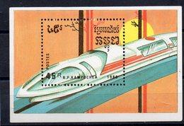 KAMPUCHEA  - Timbre Neuf ** De 1989  ( Ref 5829 )   Transport - Train - TGV - Kampuchea
