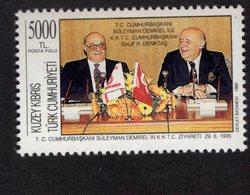 673019455 TURKISH CYPRUS 1995 POSTFRIS MINT NEVER HINGED POSTFRISCH EINWANDFREI SCOTT 395 SULEYMAN DEMIREL - Chypre (Turquie)