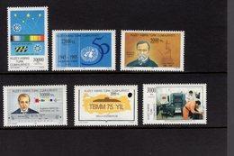 673020709 TURKISH CYPRUS 1995 POSTFRIS MINT NEVER HINGED POSTFRISCH EINWANDFREI SCOTT 400 401 402 403 404 405 - Chypre (Turquie)