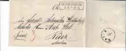Pre299 / Preussen, Quedlinburg 1862 Nach Raitz (Tschechien) Mit Textinhalt - Pruisen