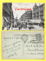 CPA 13 MARSEILLE- Rue Noailles - 1924  ( Tramway ) - Canebière, Centre Ville