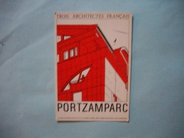 Carte Invitation  -  Vernissage  -  Christian De PORTZAMPARC  -  Institut D'Architecture  -  1984  - - Inaugurations