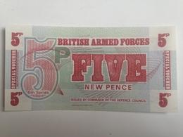 Billete Fuerzas Armadas Británicas. 5 Peniques. 1972. Sin Circular - Fuerzas Armadas Británicas & Recibos Especiales