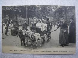 BOIS DE VINCENNES Voitures Aux Chevres Du Lac De St Mandè - Vincennes