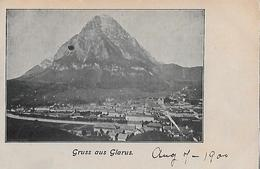 GRUSS AUS GLARUS → Sehr Alter Lichtdruck Ca.1895 - GL Glaris