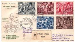 Fdc Venetia : CONCILIO DI CALEDONIA 1951 Raccomandata AEREA ESTERA, No Annullo D'arrivo - FDC