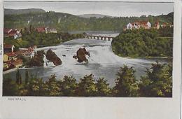 RHEINFALL → Schöner Colorirter Lichtdruck Ca.1900 - SH Schaffhausen