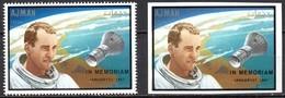 Ajman  Mi. 460 A / B  Gezähnt + Geschnitten In Memoriam Edward White **/MNH - Raumfahrt