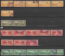MiNr. 322, 323, 324, 326, 327 Guatemala,  1936, 1. Okt./1937, 1. Jan. Freimarken: Landschaften Der Karibikküste. - Guatemala