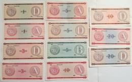 Lote 11 Billetes Cuba. 1985. 1 Peso. Serie A Y D. 3 Pesos. Serie A Y D. 5 Pesos. Serie A, B Y D. 10 Pesos. Serie A Y D. - Cuba