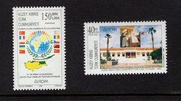 673044289 TURKISH CYPRUS 1998 POSTFRIS MINT NEVER HINGED POSTFRISCH EINWANDFREI SCOTT 458 459 NATL FESTIVAL - Chypre (Turquie)