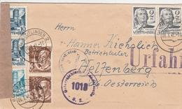 Allemagne Zone Française Lettre Censurée Pour L'Autriche 1948 - French Zone