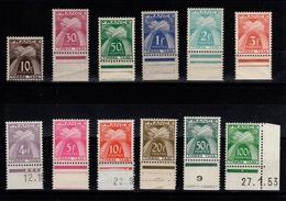"""YV Taxe 78 à 89 N** Serie GERBES """"Timbre Taxe"""" Complete Avec Le 89 En Petit Coin Daté , Cote 140+ Euros - Taxes"""