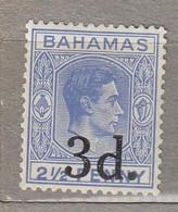 BAHAMAS 1940 Mi 120  SG 161 MH (*) 3d Overprinted #23560 - 1859-1963 Crown Colony