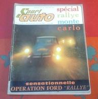 Sport Auto N°36 Janvier 1965 Rallye Monte Carlo Itinéraires Engagés,Jo Schlesser,Volant Shell 64 Jacques Weber - Auto/Motor