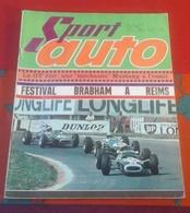 Sport Auto N°55 Août 1966 Reims Jack Brabham, Rouen Denis Hulme,Tropées Auvergne Charade, Jaguar 2+2, Mustang - Auto/Moto