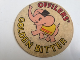 Posavasos Cerveza Derby. Offilers. Reino Unido. Años '70. Elefante - Beer Mats