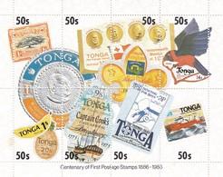 TONGA  BF 8 =>  100 Jaar Postzegels Met Oa Capitan Cook / Scoutisme / Koningen...enz       Yvert  17,50 € - Tonga (1970-...)