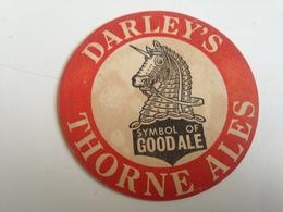 Posavasos Cerveza Darley's Thorne. Yorkshire, Reino Unido. Años '70. Unicornio. Caballo - Sous-bocks