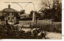 CPA. D01. EVOSGES. Groupe Scolaire Et Monument Aux Morts. MARCELLIN BELLEY - Andere Gemeenten