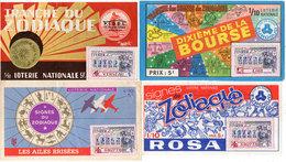 4 Billets De Loterie - Zodiaque - Les Ailes Brisées - Rosa - F.I.D.EL. - Bourse   (110111) - Billets De Loterie