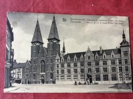 België Belgique Belgien Belgium  Dendermonde. Vlasmarkt En Standbeeld Prudens Van Duyse - Dendermonde