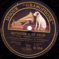 78 Trs - 30 Cm - Etat B -  1re Et 2e Parties - Orchestre Symphonique De Philadelphie - 78 T - Disques Pour Gramophone