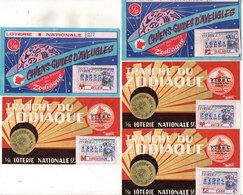 4 Billets De Loterie - Zodiaque - Chiens D' Aveugles (2)  F.I.D.EL(2)   (110113) - Billets De Loterie