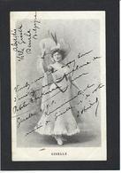 Autographe Signature à L'encre Artiste Giselle - Autographes