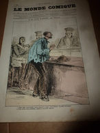 1870 LE MONDE COMIQUE,les Perles à Travers Journaux :A La Cour D'Assise; Histoires De Culottes ;etc - Livres, BD, Revues