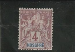 TIMBRE DE 1894  Papier Peint  N° 29* - Nossi-Bé (1889-1901)