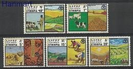 Ethiopia 1981 Mi 1105-1109 MNH ( ZS4 ETH1105-1109 ) - Agriculture
