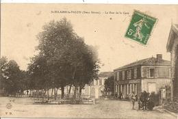 Cpa St Hilaire La Palud La Rue De La Gare - France