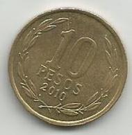Chile  10 Pesos 2010. - Chili